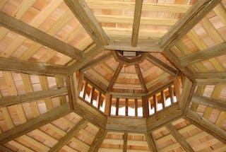 Wooden gazebo roof design