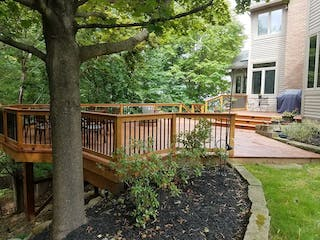 Pre-Stained KDAT Treated Deck on Ravine