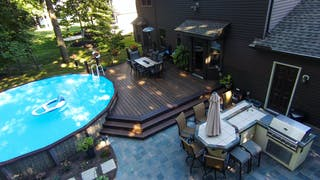 Akron low-maintenance Trex Pool Deck
