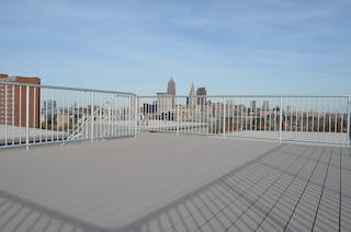 Cleveland rooftop deck for a beautiful view of the Cleveland skyline