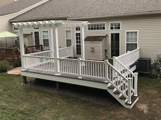 Twinsburg Custom Trex Deck with Pergola